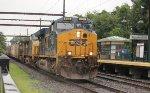 CSX 856 backs toward rest of train